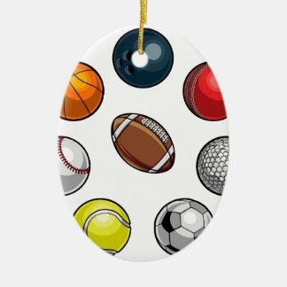 Boules de sports réglées ornement ovale en céramique