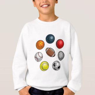Boules de sports réglées sweatshirt