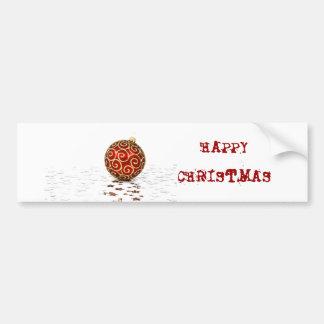 Boules rouges décoratives de Noël Autocollant Pour Voiture