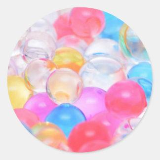 boules transparentes sticker rond