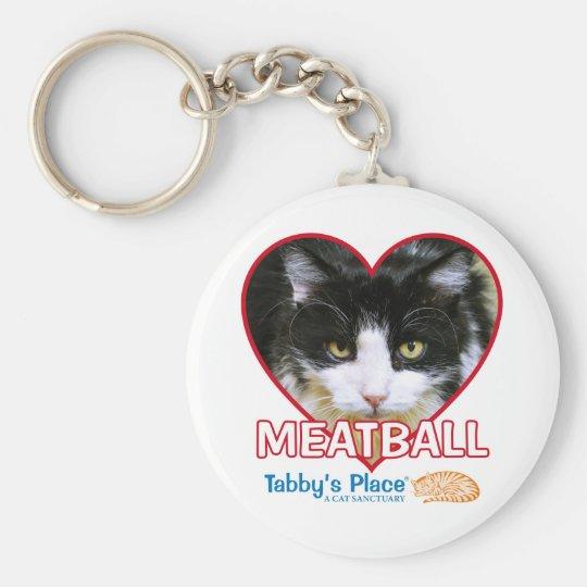"""Boulette de viande - 2,25"""" porte - clé de base porte-clé rond"""