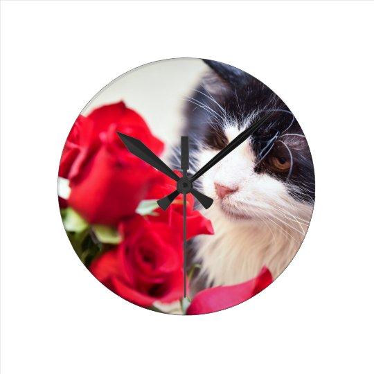 "Boulette de viande - 8"" horloge ronde"