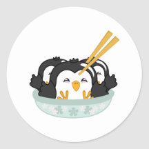 Boulettes de pingouin d'iceberg adhésif rond