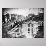 Boulevard du Temple, par Daguerre, photo historiqu Posters