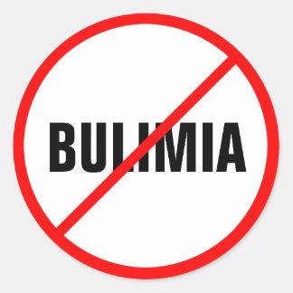 Boulimie interdite ! sticker rond
