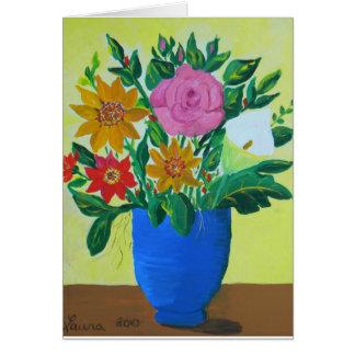 Bouquet abondant carte de vœux