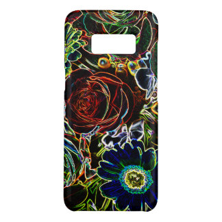Bouquet coloré bordé rougeoyant de fleur coque Case-Mate samsung galaxy s8