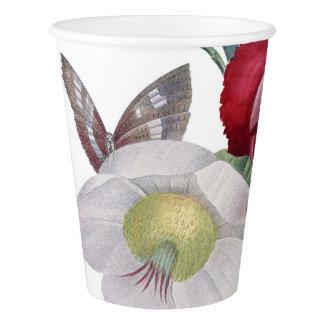 bouquet d'anémone et d'oeillets gobelets en papier