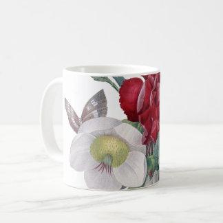 bouquet d'anémone et d'oeillets mug