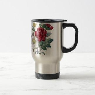 bouquet d'anémone et d'oeillets mug de voyage