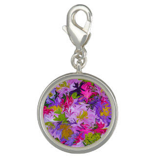 Bouquet de conception florale d'art abstrait de breloques avec photo