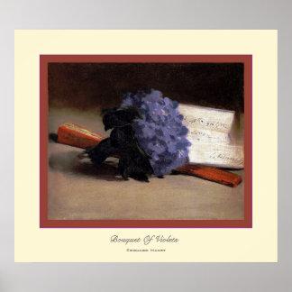 Bouquet de ~ Edouard Manet de violettes Posters