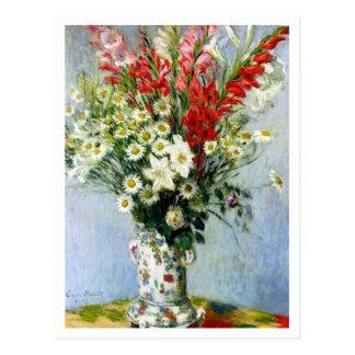 Bouquet de Gladiolas par Claude Monet Carte Postale