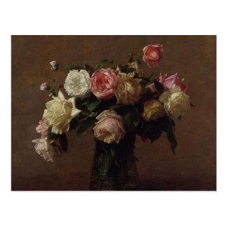Bouquet de Henri Fantin-Latour- des roses Carte Postale