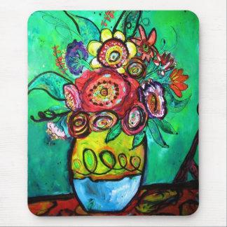Bouquet de jardin tapis de souris