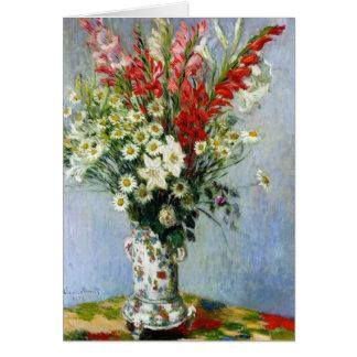 Bouquet de MONET de carte de voeux de Gladiolas