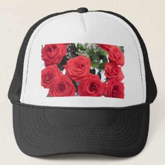 Bouquet de roses rouges avec le souffle de Babys Casquette