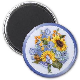 Bouquet de tournesol d'été magnets