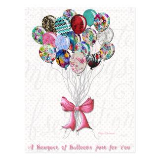 Bouquet des ballons pour vous carte postale