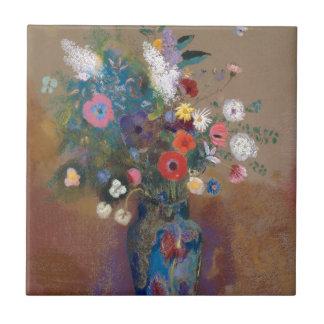 Bouquet des fleurs - Odilon Redon Petit Carreau Carré