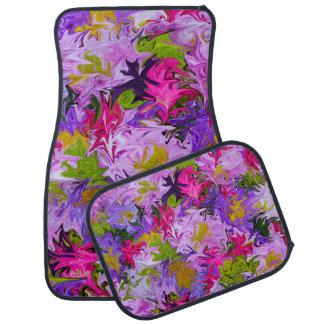 Bouquet des tapis de voiture de couleurs