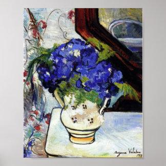 Bouquet des violettes de Parme par Suzanne Valadon Affiche