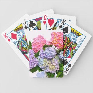 Bouquet d'hortensia jeu de cartes