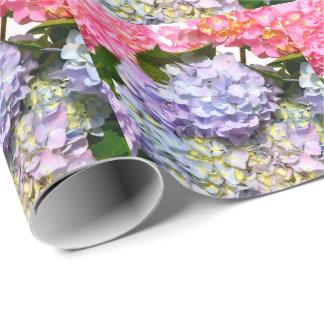 Bouquet d'hortensia papier cadeau