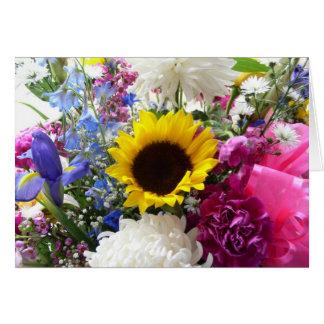 Bouquet floral 2 carte de vœux