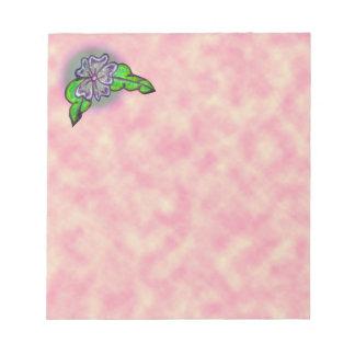 Bouquet floral blocs mémo