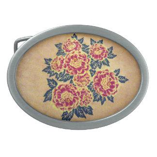 bouquet floral boucles de ceinture ovales