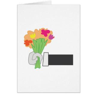 Bouquet floral carte de vœux
