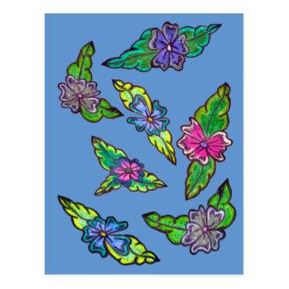 Bouquet floral carte postale