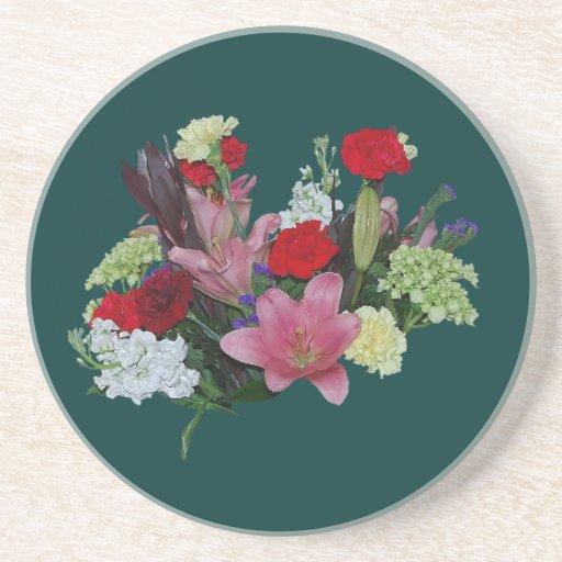 Bouquet floral dessous de verres