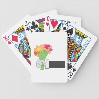 Bouquet floral jeux de cartes