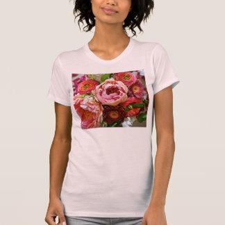 Bouquet floral, le T-shirts des femmes