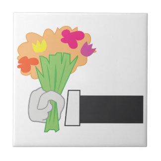 Bouquet floral petit carreau carré