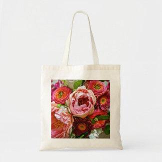 Bouquet floral, sac fourre-tout
