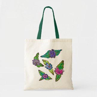 Bouquet floral sacs en toile
