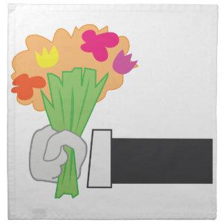 Bouquet floral serviettes