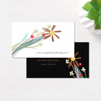 Bouquet minimaliste cartes de visite