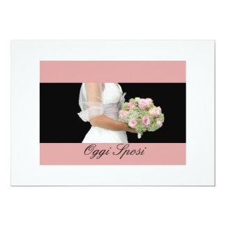 bouquet nuptiale de faire-part de mariage italien