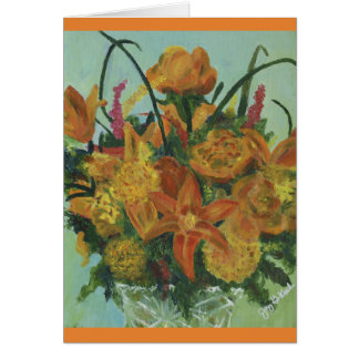 Bouquet orange - carte