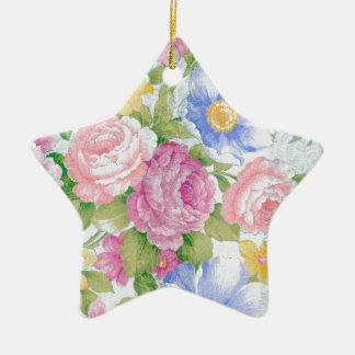Bouquet Ornement Étoile En Céramique