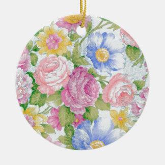 Bouquet Ornement Rond En Céramique