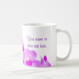 Bouquet rose d'orchidée mug blanc