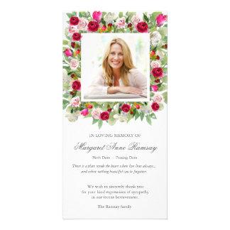 Bouquet rose du carte de remerciements | de
