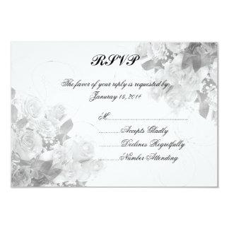 Bouquet rose personnalisé épousant RSVP Carton D'invitation 8,89 Cm X 12,70 Cm