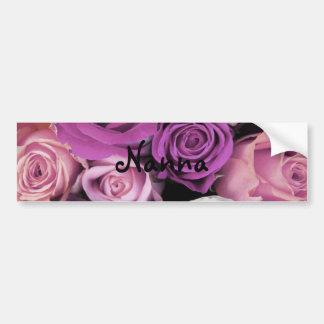 Bouquet rose tourbillonnant autocollant de voiture