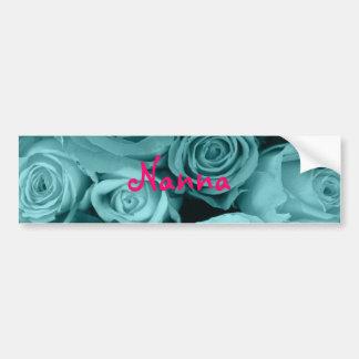 Bouquet rose tourbillonnant autocollant pour voiture